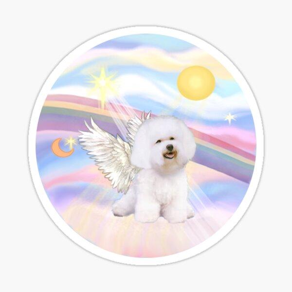 Bichon Frise (#1) in Heavens Clouds Sticker