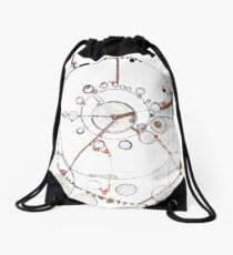 Watch City, Ink drawing Drawstring Bag