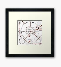 Watch City, Ink drawing Framed Print