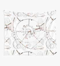 Watch City, Ink drawing Wall Tapestry