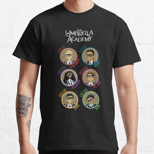 UMBRELLA ACADEMY: ALL CHARACTERS CARTOON (COLORS) Classic T-Shirt