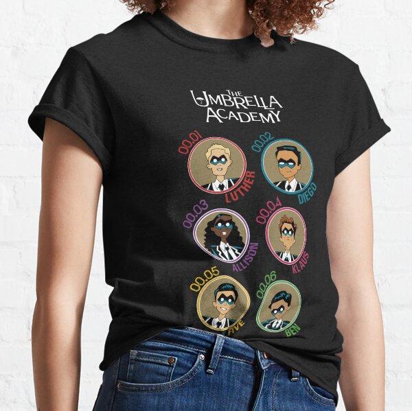 UMBRELLA ACADEMY: ALL CHARACTERS CARTOON (COLORS) Classic T-Shirt