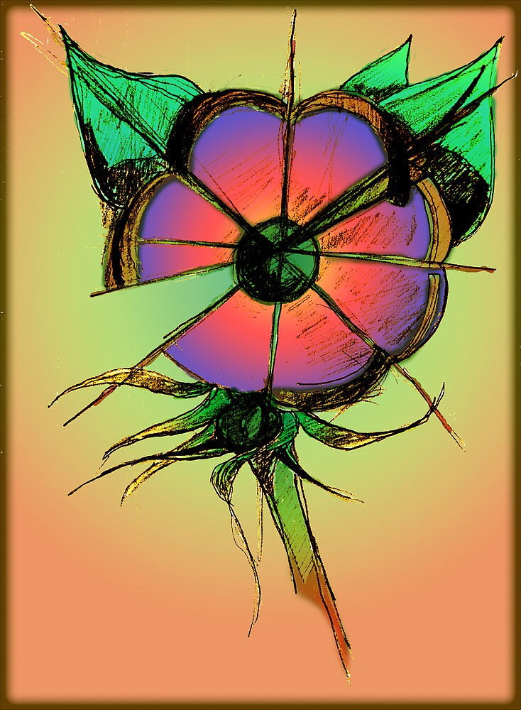 flower abstract by Mark Malinowski