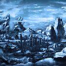 Blaue Berglandschaft von unikatdesign