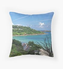 Carbis Bay to St Ives Throw Pillow