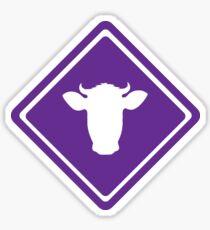 Cow Crossing Sticker
