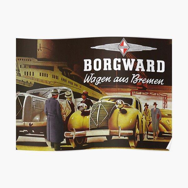 Borgward 1941 car and truck advertisement Poster