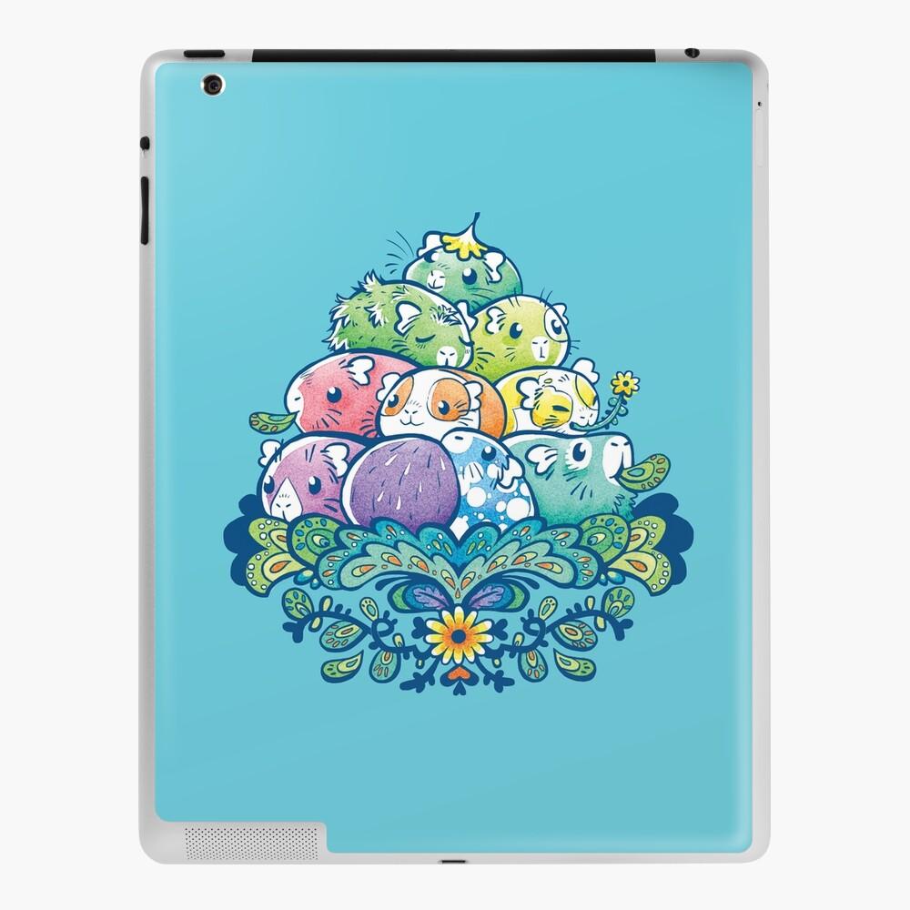 Blooming Piggy Pile in Blue iPad Case & Skin