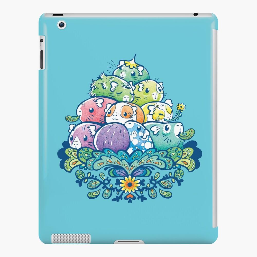Blooming Piggy Pile en azul Funda y vinilo para iPad