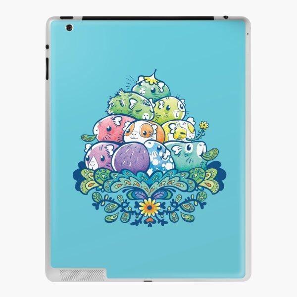 Blooming Piggy Pile in Blue iPad Skin