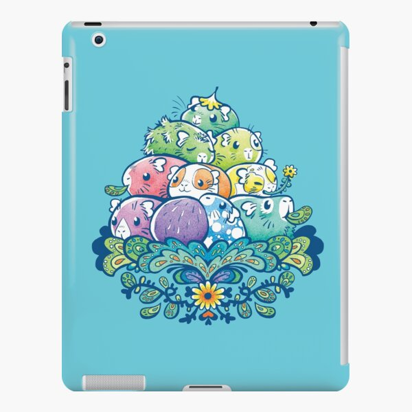 Blooming Piggy Pile in Blue iPad Snap Case