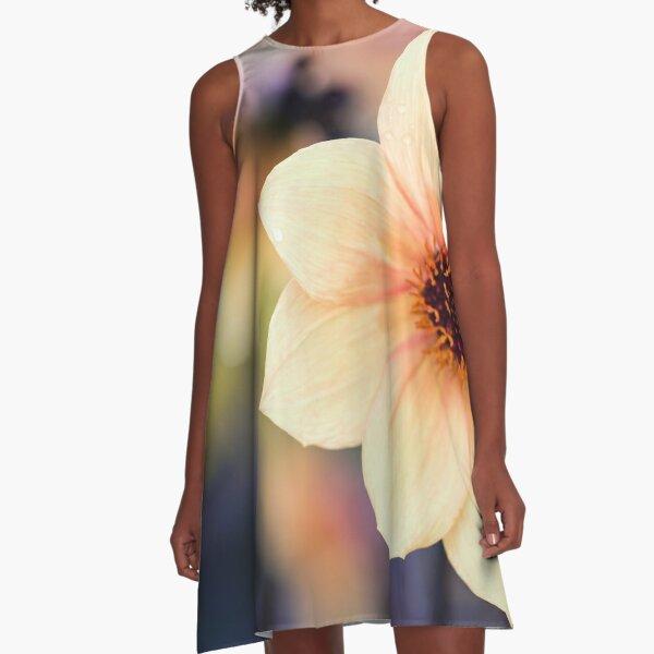 Yellow Summer Flower A-Line Dress