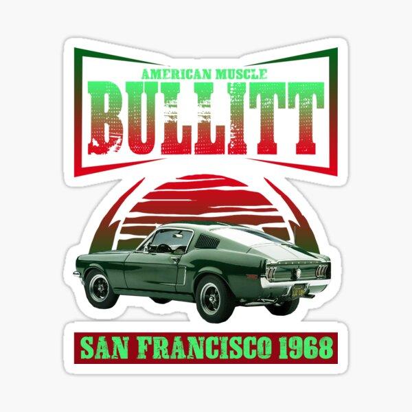 Amerikanisches Muskelauto Bullitt T-Shirt Sticker