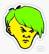 Youth(green yellowy hair) Sticker