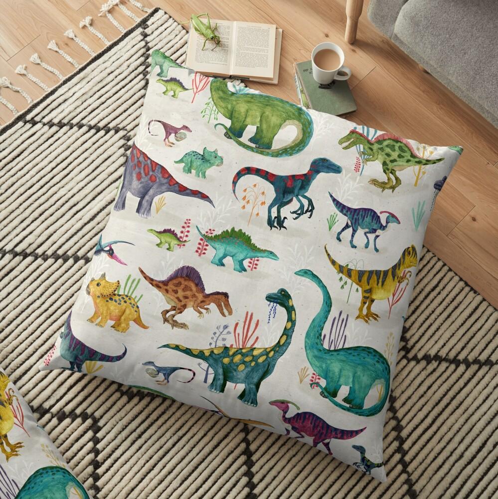 Bright Dinosaurs Floor Pillow