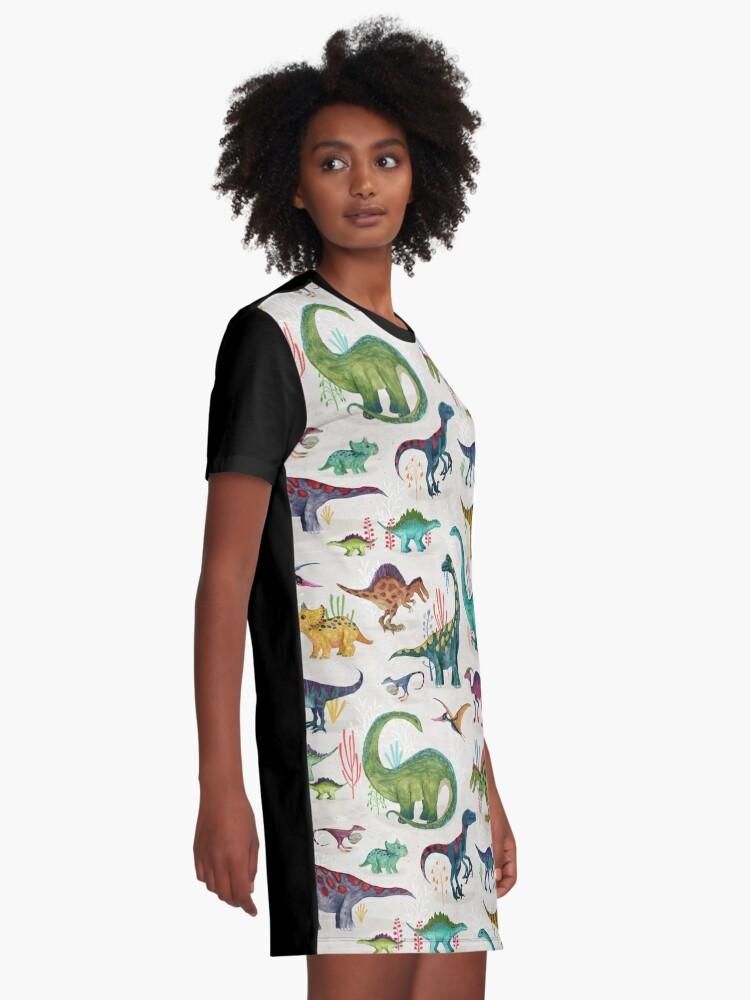 Alternate view of Bright Dinosaurs Graphic T-Shirt Dress