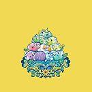 Blühender Piggy Pile im Gelb von Paigekotalik