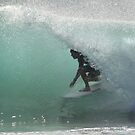 Surfing the Point ! by Trish Threlfall
