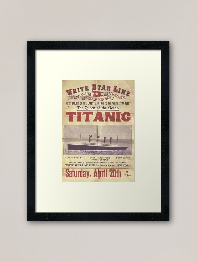 Alternate view of Titanic Poster Framed Art Print