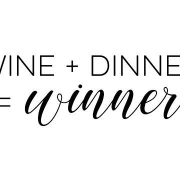 Wein + Abendessen = Gewinner von doodle189