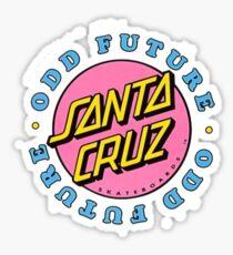 Seltsame zukünftige Santa Cruz Aufkleber Sticker