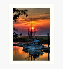 Sunset Over Scotch Pond Art Print