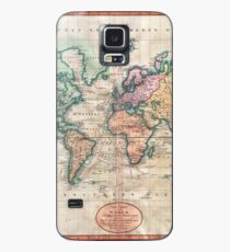 Vintage World Map 1801 Case/Skin for Samsung Galaxy