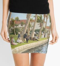 Watching the boat races, Palm Beach, Florida 1906 Mini Skirt