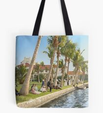 Watching the boat races, Palm Beach, Florida 1906 Tote Bag