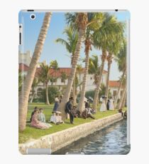 Watching the boat races, Palm Beach, Florida 1906 iPad Case/Skin