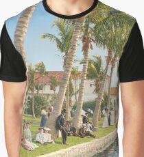 Watching the boat races, Palm Beach, Florida 1906 Graphic T-Shirt