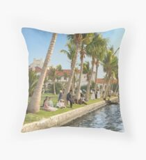 Watching the boat races, Palm Beach, Florida 1906 Floor Pillow