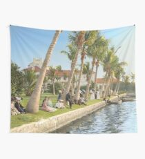 Watching the boat races, Palm Beach, Florida 1906 Wall Tapestry