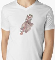 Chubby Koala T-Shirt mit V-Ausschnitt für Männer