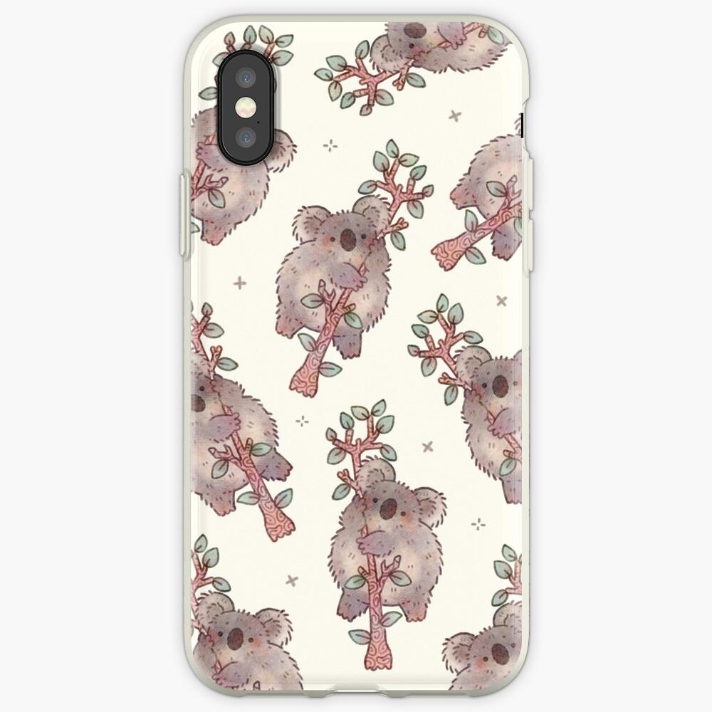 Chubby Koala on a Tree - Australian Wildlife iPhone Cases & Covers