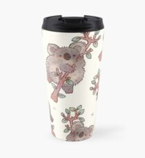 Chubby Koala on a Tree - Australian Wildlife Travel Mug