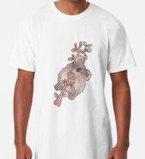 Chubby Koala on a Tree - Australian Wildlife Long T-Shirt