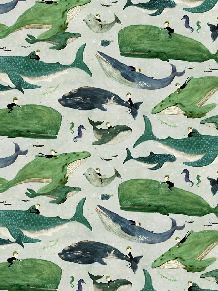 Whale rider {green and purple} by katherineq