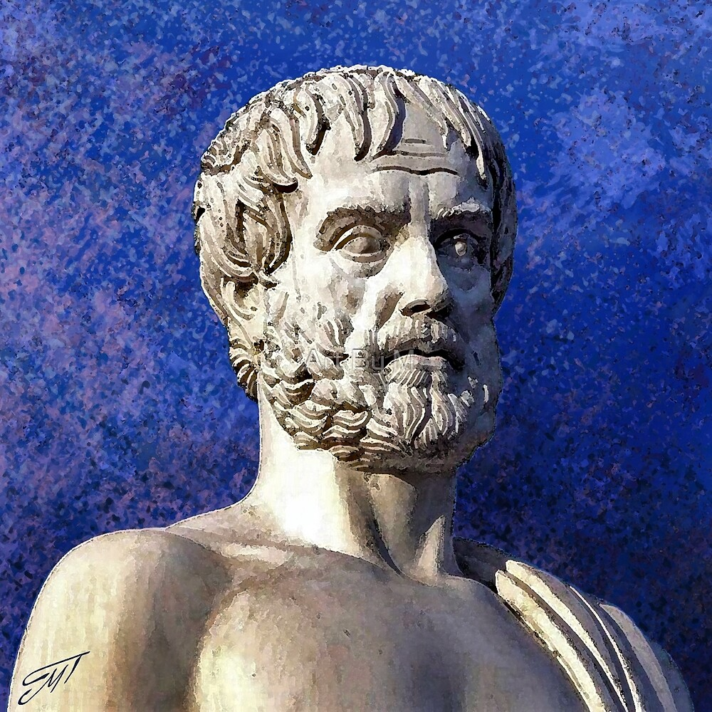 Aristotle the great philosopher by Art By M