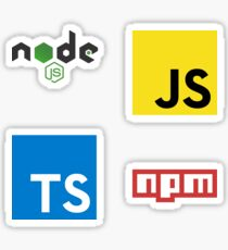 Node.js Development Combo Pack Sticker