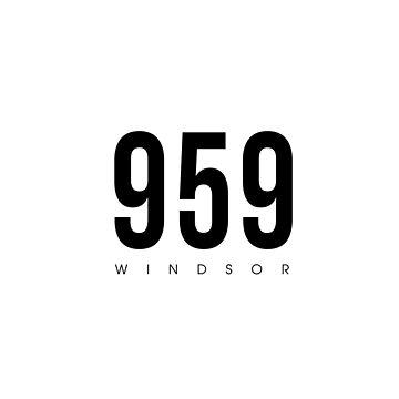 Windsor, CT - 959 Código de área de diseño de CartoCreative