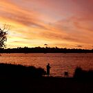 Sunset Silhouette - Canning River, Perth, Western Australia by Karen Stackpole