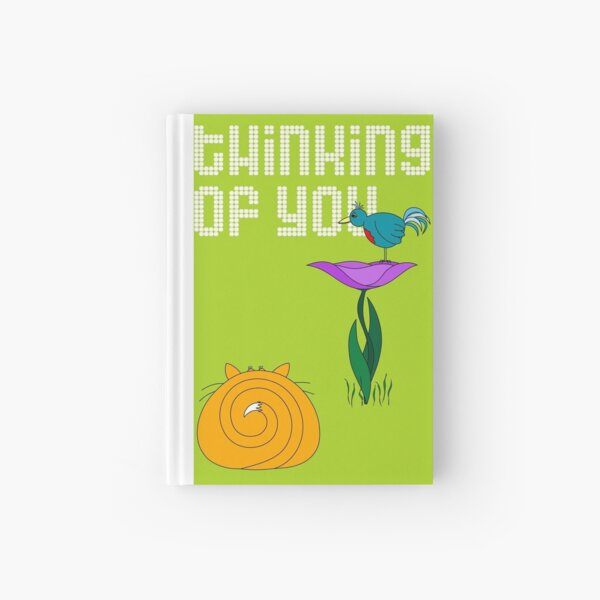 Thinking of You - card Hardcover Journal