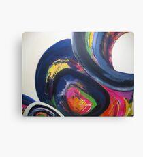 New Terrain modern abstract art print Canvas Print