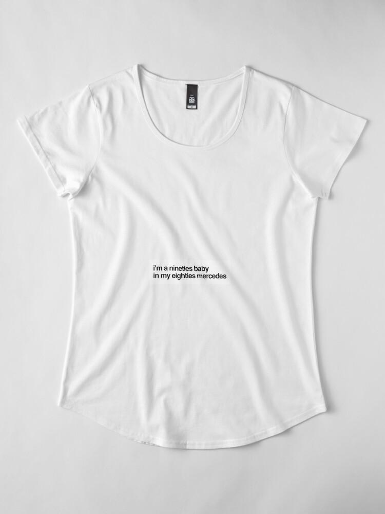 Alternate view of eighties mercedes Premium Scoop T-Shirt