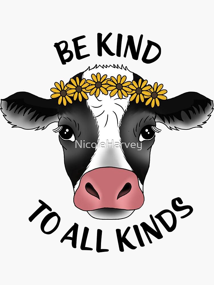Cow sticker by NicoleHarvey