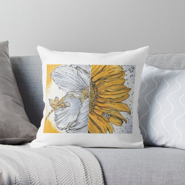 The Dragonfly and the Snail Throw Pillow