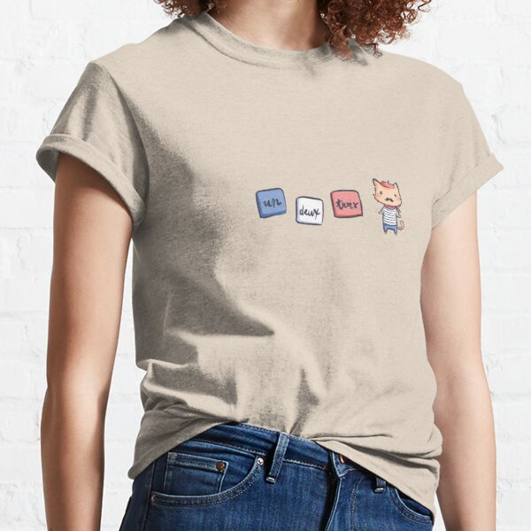 Un Deux Trois Cat Classic T-Shirt