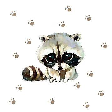 Sad raccoon pillow  by Ilovebronys