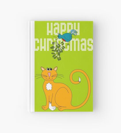 Happy Christmas in White Hardcover Journal
